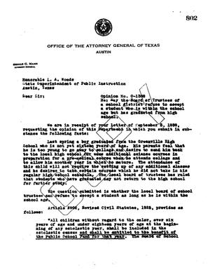 Primary view of object titled 'Texas Attorney General Opinion: O-1388'.
