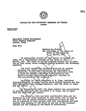 Primary view of object titled 'Texas Attorney General Opinion: O-1436'.