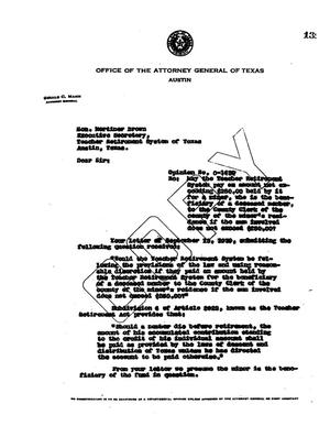 Primary view of object titled 'Texas Attorney General Opinion: O-1439'.