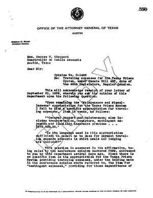Primary view of object titled 'Texas Attorney General Opinion: O-1482'.