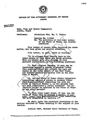 Primary view of object titled 'Texas Attorney General Opinion: O-1683'.