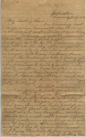 Primary view of object titled 'Letter to Cromwell Anson Jones, 18 July [1869]'.