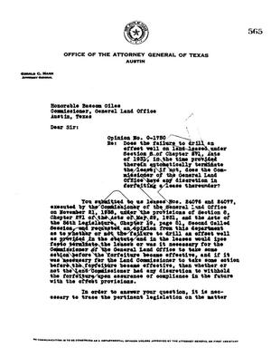 Primary view of object titled 'Texas Attorney General Opinion: O-1730'.