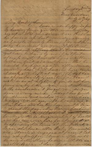 Primary view of object titled 'Letter to Cromwell Anson Jones, 11 July 1869'.