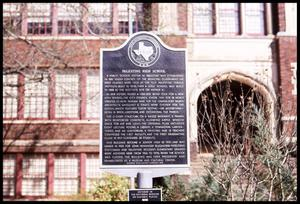Primary view of object titled '[Historical Marker: Palestine High School]'.