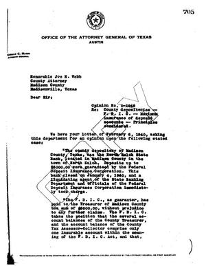 Primary view of object titled 'Texas Attorney General Opinion: O-1948'.