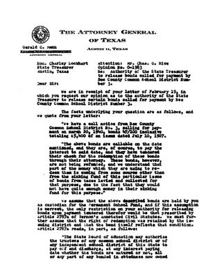 Primary view of object titled 'Texas Attorney General Opinion: O-1983'.