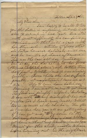 Letter to Cromwell Anson Jones, 8 April [1869]