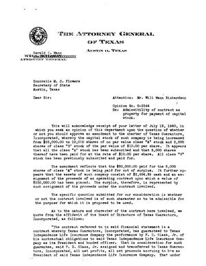 Primary view of object titled 'Texas Attorney General Opinion: O-2544'.