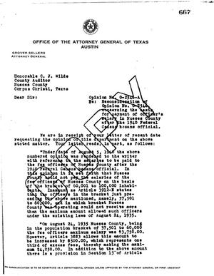 Primary view of object titled 'Texas Attorney General Opinion: O-2546A'.