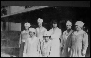 Primary view of object titled '[Unidentified Nurses in Palestine]'.