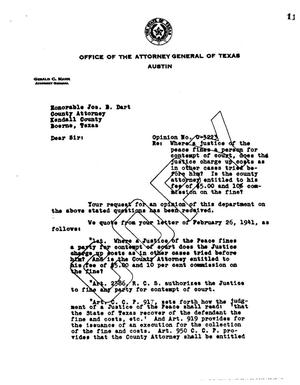 Primary view of object titled 'Texas Attorney General Opinion: O-3223'.