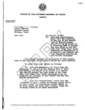 Primary view of object titled 'Texas Attorney General Opinion: O-3231'.