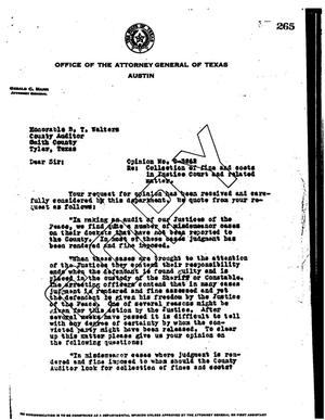 Primary view of object titled 'Texas Attorney General Opinion: O-3262'.
