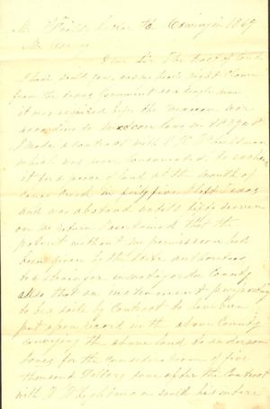 Primary view of object titled 'Letter to Mary Jones, [1867]'.