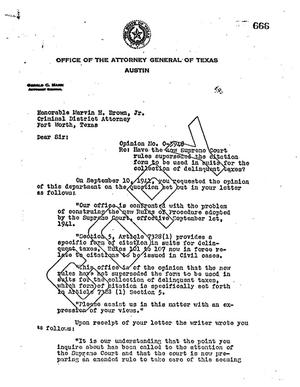 Primary view of object titled 'Texas Attorney General Opinion: O-3948'.