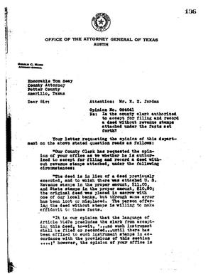 Primary view of object titled 'Texas Attorney General Opinion: O-4041'.