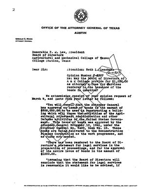 Primary view of object titled 'Texas Attorney General Opinion: O-4327'.