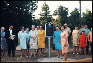 Primary view of object titled '[Dedication of the CSA Iron Works Marker in Anderson County]'.