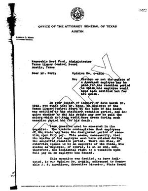 Primary view of object titled 'Texas Attorney General Opinion: O-4504'.