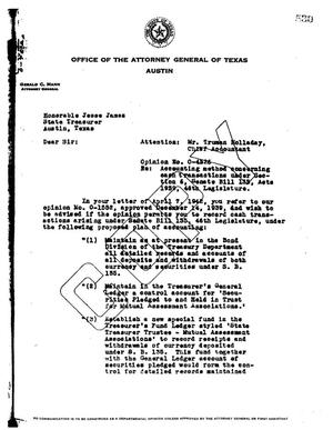 Primary view of object titled 'Texas Attorney General Opinion: O-4526'.