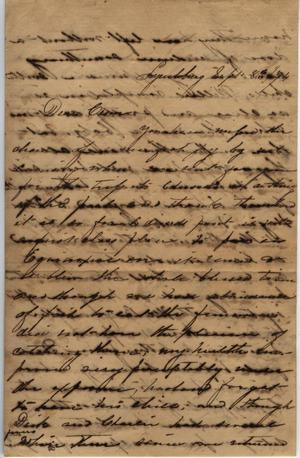 Primary view of Letter to Cromwell Anson Jones, 8 September 1874