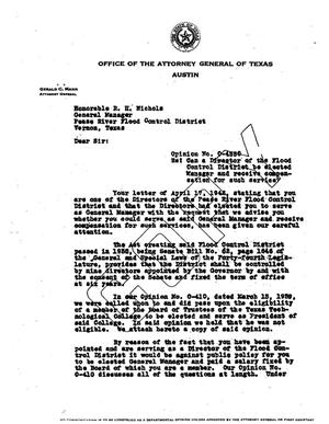 Primary view of object titled 'Texas Attorney General Opinion: O-4550'.