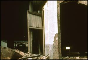 Primary view of object titled '[Demolition of a Palestine Building]'.