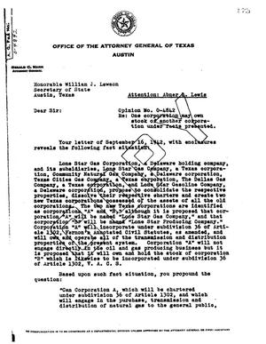 Primary view of object titled 'Texas Attorney General Opinion: O-4842'.
