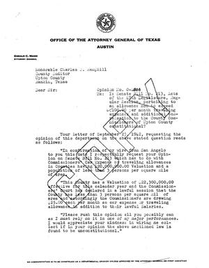 Primary view of object titled 'Texas Attorney General Opinion: O-4886'.