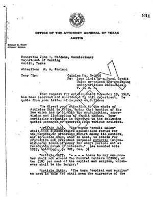 Primary view of object titled 'Texas Attorney General Opinion: O-4998'.