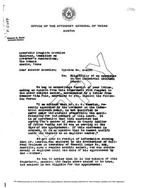 Primary view of object titled 'Texas Attorney General Opinion: O-5079'.