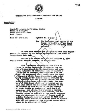 Primary view of object titled 'Texas Attorney General Opinion: O-5169'.