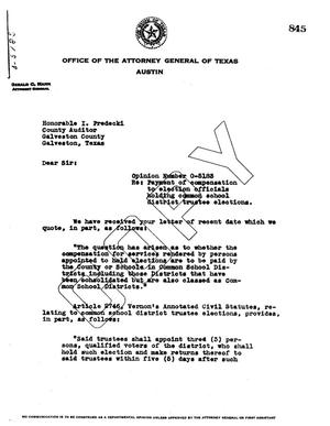 Primary view of object titled 'Texas Attorney General Opinion: O-5183'.