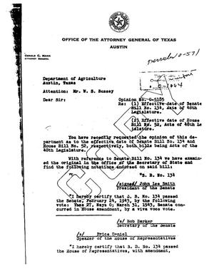 Primary view of object titled 'Texas Attorney General Opinion: O-5185'.