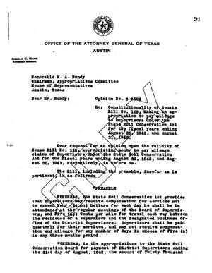 Primary view of object titled 'Texas Attorney General Opinion: O-5194'.