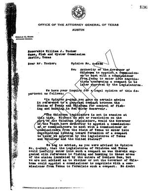 Primary view of object titled 'Texas Attorney General Opinion: O-5234'.