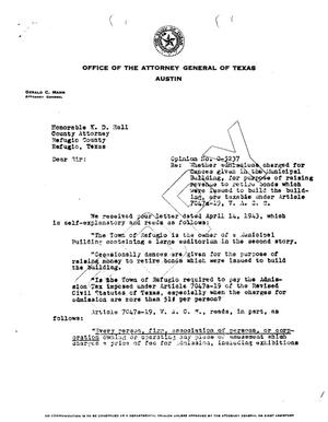 Primary view of object titled 'Texas Attorney General Opinion: O-5237'.