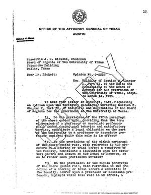Primary view of object titled 'Texas Attorney General Opinion: O-5252'.