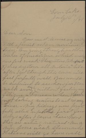 Primary view of object titled 'Letter to Cromwell Anson Jones, 14 July 1881'.