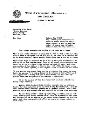 Primary view of object titled 'Texas Attorney General Opinion: O-5902'.