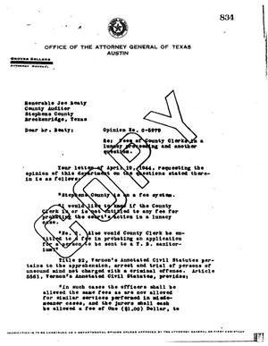 Primary view of object titled 'Texas Attorney General Opinion: O-5979'.