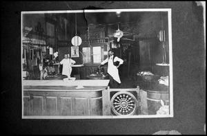 Primary view of object titled '[Interior of a Palestine Shop]'.