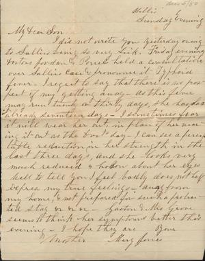 Primary view of object titled 'Letter to Cromwell Anson Jones, [5 December 1880]'.