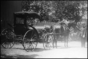 Primary view of object titled '[Unidentified Man with Horse and Buggy]'.