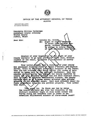 Primary view of object titled 'Texas Attorney General Opinion: O-6224'.