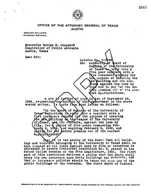 Primary view of object titled 'Texas Attorney General Opinion: O-6246'.