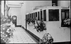 Primary view of object titled '[Interior View of a Palestine Bank]'.