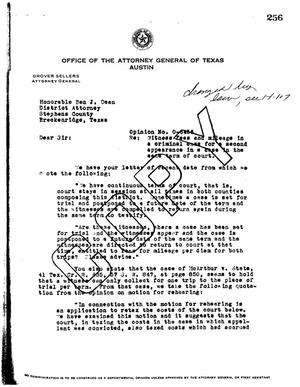 Primary view of object titled 'Texas Attorney General Opinion: O-6456'.