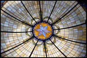Primary view of object titled '[Interior of the Dome of the Anderson County Courthouse]'.